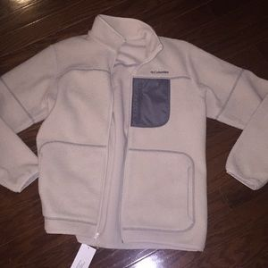 Cream Sherpa jacket from Columbia